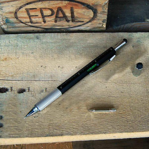 6-in-1 Multitool Pen - Zwart