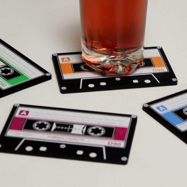 Invotis Cassettebandjes onderzetters (set van 4)