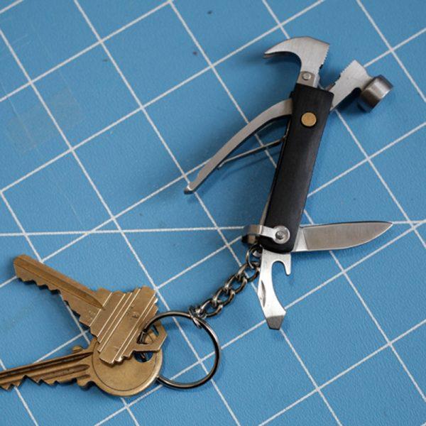 Kikkerland 7-in-1 mini hamertje - Zwart