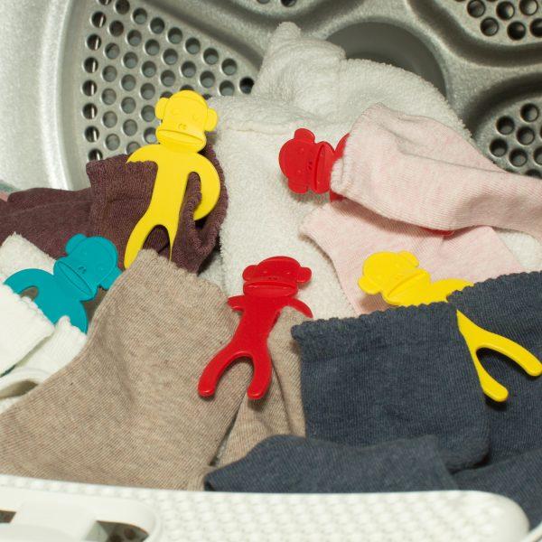 Kikkerland Sock Monkey (set van 12)