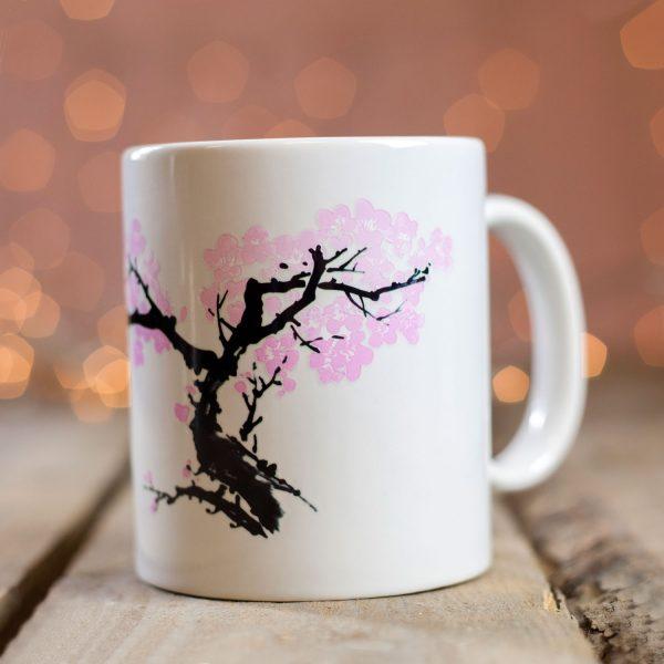 Kikkerland Warmtegevoelige mok Kersenbloesem