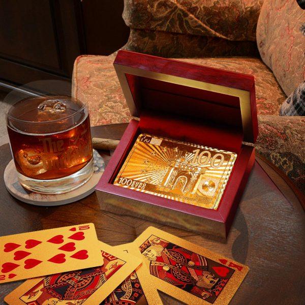 Gouden Speelkaarten + Cadeaubox