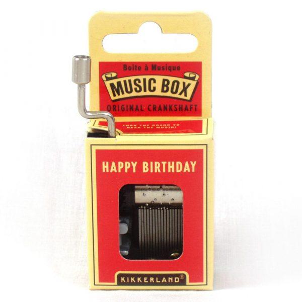 Muziekdoosje - Happy Birthday - Kikkerland