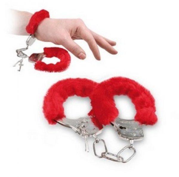 Furry Handcuffs - rood