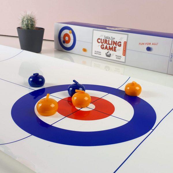 Kikkerland Curling Game Voor Op Tafel