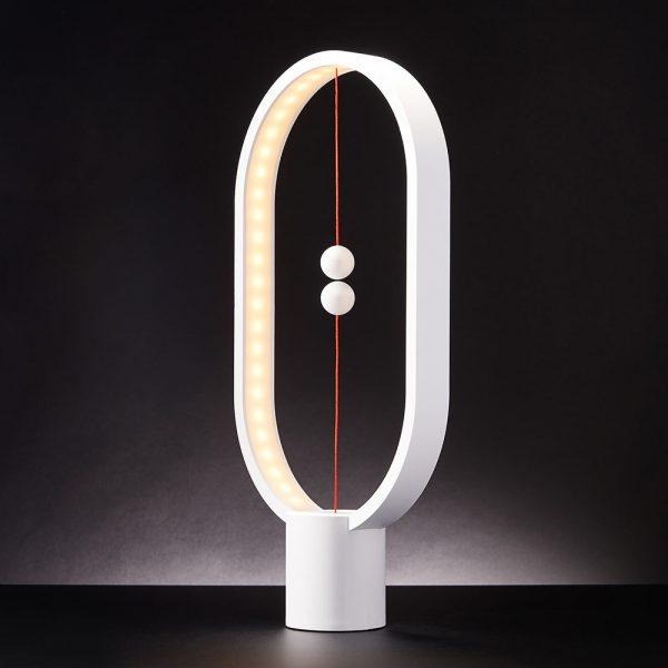 Heng Balance Lamp Oval - Magnetische lamp - Wit - Groot - 32.4 x 27.9 x 9.7 cm